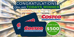 Just Prizes - $500 Costco Giftcard (US)