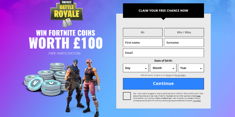 Leadworld Fortnite coins (UK)