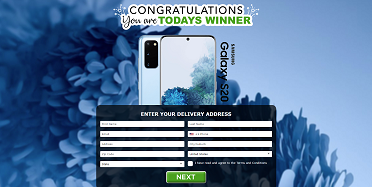 Just Prizes - Samsung S20 Blue (US)